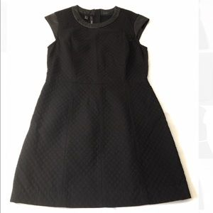 Mango Black Quilted Dress